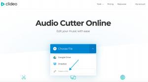 Clideo Audio Cutter Online